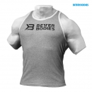 Better Bodies Ribbed Logo Tank grau