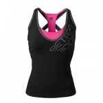 Better Bodies Support 2-layer top - Black pink