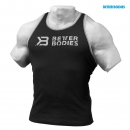 Better Bodies Ribbed Logo Tank schwarz
