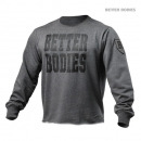 Better Bodies Big Print Sweatshirt anthrazit melange