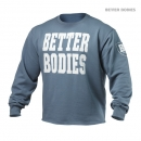 Better Bodies Big Print Sweatshirt blue