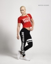 Women Cropped tee red