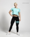 Better Bodies Cropped tee aqua