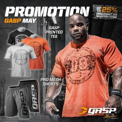 GASP Pro Mesh Shorts in schwarz und grau
